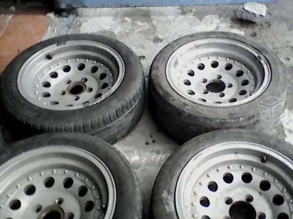 Rines 15 de aluminio de ford-chevrolet 5birlos